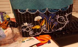#刺绣##毛线筐#为了弥补花朵
