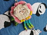 立體繡——小羊羔胸針項鏈