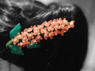 私地儿独家原创手作手工diy磨砂米珠花发夹发饰