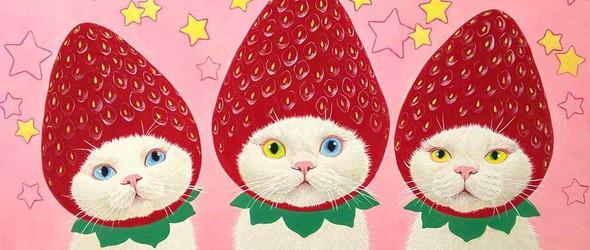 水果造型的甜美猫猫,你想吃吗?