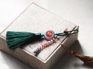 【包邮】手工编织古风天然玛瑙钥匙扣汽车钥匙挂件