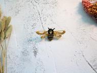 秀娘原创手工刺绣立体胸针苏绣小蜜蜂胸花