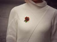 【浓情蜜意】楠楠小张漫生活创意松子胸针原创手工别针配饰礼物
