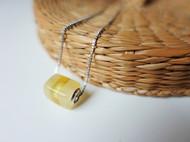 AmberCollide丨原创设计手工琥珀蜜蜡拼接925纯银项链