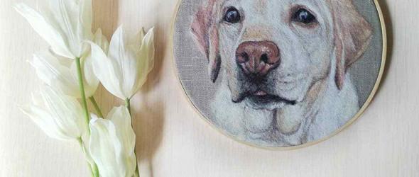 @hahatusha:超逼真的羊毛毡宠物肖像画