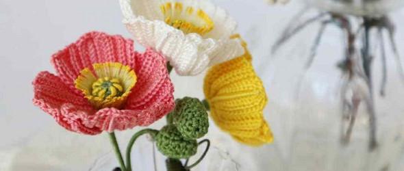 盛放着的钩编花卉:紬 Tsumugi