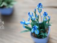 一堆蓝色系的纸艺小花花