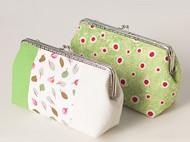 漫与手工:春绿 复古口金手拿包 手工布作包包 原创定制