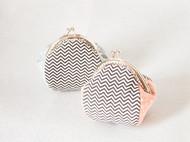 漫与手工:布艺复古波纹口金手包零钱硬币包包中秋教师节创意礼物
