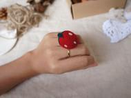 【草莓萌萌私物C款】羊毛毡草莓戒指、防尘塞……