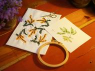 含羞草刺绣