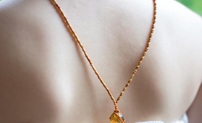「气息」柯巴树脂 橄榄核 泰国蜜蜡绳 编织绳