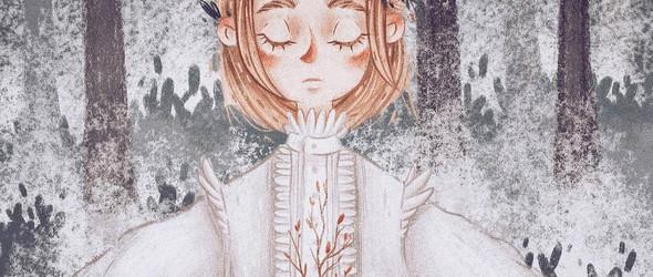 带着魔法的温暖插画:Mori Raito