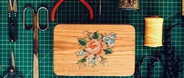 木片上的刺绣|| 木片亦能飞针走线