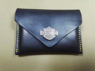 骄阳手工皮具高端卡包时尚个性定制色双层卡名片包手工制做