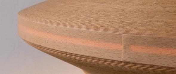 Bunaco:1毫米厚山毛榛木盘成的现代木器