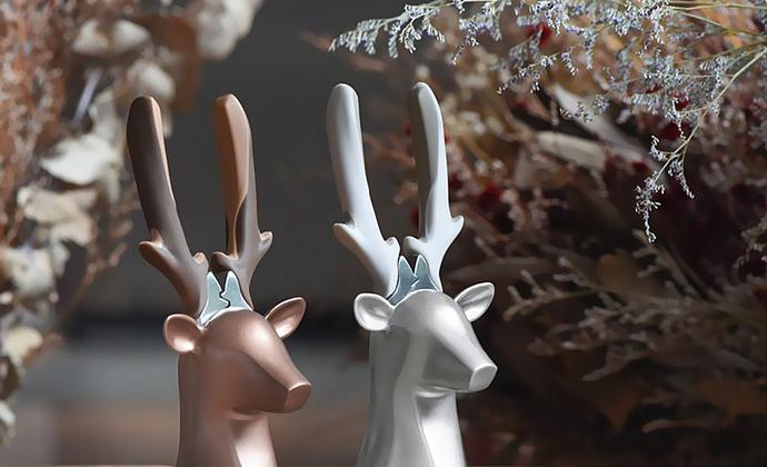 台湾iThinking可爱麋鹿造型尖嘴钳摆件