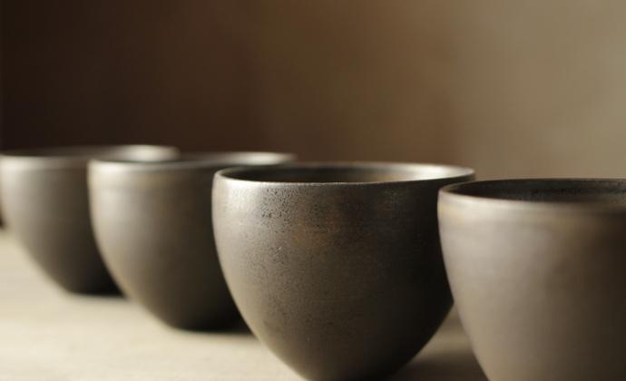 纯手工复古仿古茶具日式禪風茶道細陶茶壶 功夫茶具-收足杯(单茶杯)