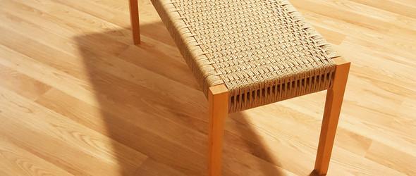 丹麦绳编实木长凳制作过程 /Danish cord bench project
