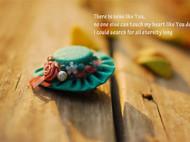 布艺花朵小帽子头饰头花镶嵌发饰毛线圈纯色唯美发夹边夹原创手工