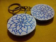 芒种先生手工绘制情侣青花瓷风格饰品挂件,直径5cm大小!
