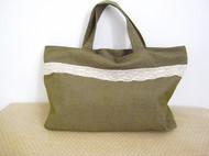 军绿帆布手提包