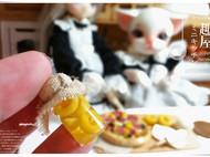 粘土食玩——迷你黄瓜泡菜和黄桃罐头
