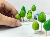 木树森林景观模型树摄影道具家居桌面装饰艺术摆件生节日创意礼物