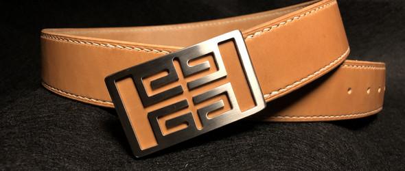 巴萨卡尔-手缝纫日本枥木鞍革皮带