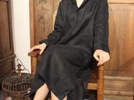 ||白富美必备小翻领|| 复古优雅开襟小黑裙 . 可衣可裙