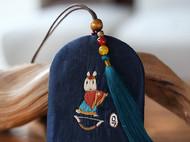 花暖 原创设计 手工刺绣 十二生肖钥匙包民族风配饰中国风礼物 马
