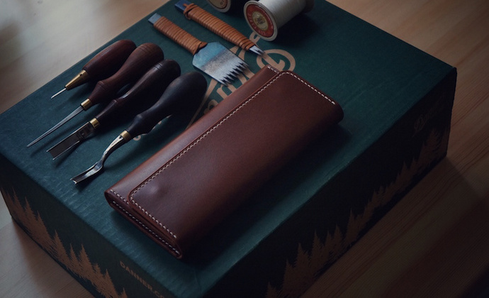 白馬手造  手工制作皮具 长夹/钱包/手包 意大利buttero茶色