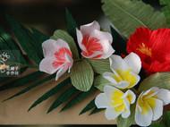 纸艺热带花卉相框