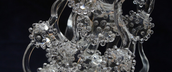 玻璃上开出的唯美之花,玻璃艺术家James Lethbridge作品赏析