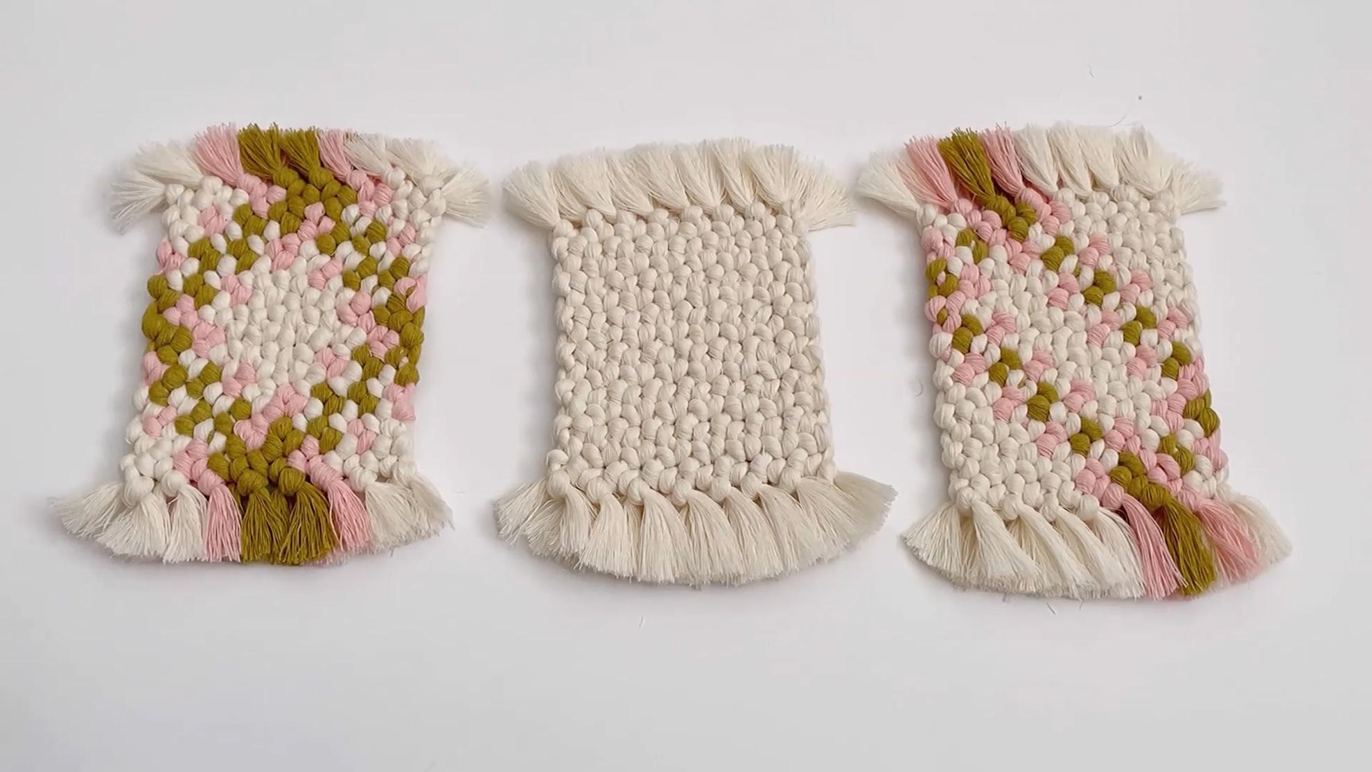 DIY Macrame视频教程:编织杯垫