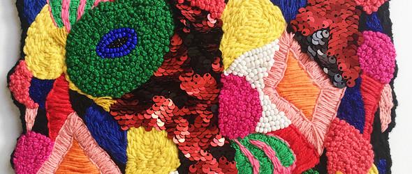 爆炸的色彩与复杂的细节   澳大利亚艺术家 Liz Payne (利兹. 佩恩)的刺绣与编织