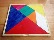 实木七巧板-新西兰松木丙烯颜料木蜡油-iDO手工实验室