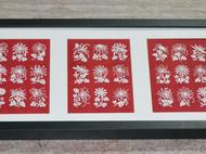 菊花剪纸9枚 百菊图局部 精细剪纸可装框装饰