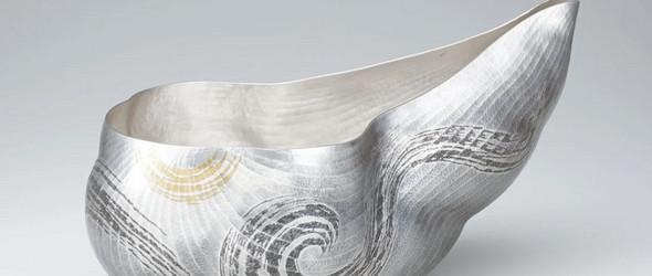 金属雕刻与布目象嵌|活着的人间国宝大角 幸枝作品集