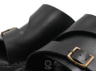 一针一线纯手工缝制[扣带皮拖鞋]
