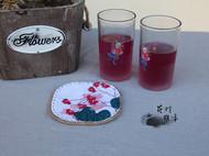 手工杯垫【秋海棠】,看看花,喝喝茶吧