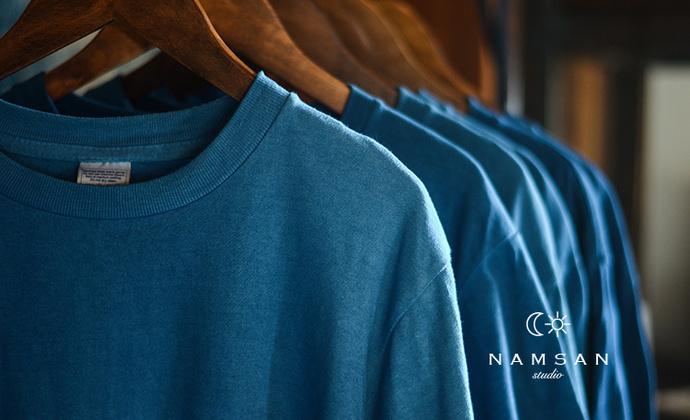 南山草木染indigo 古法植物蓝染 复古草木染visvim 男女全棉T恤