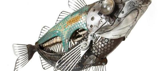 蒸汽朋克风格的昆虫雕塑 | Edouard Martinet