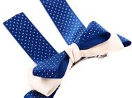 Ivenran 依雯然 手工发饰 甜美发夹 蝴蝶结优质缎带横夹 宝石蓝色