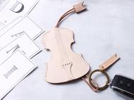 定制 植鞣皮纯铜 大提琴 钥匙圈 包挂 汽车钥匙扣