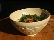 【八九燕来】米色有荷花碗 饭碗茶碗抹茶碗