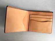 手工黑色摔纹植鞣革牛皮革goro's高桥款短款钱包男女款真皮短夹