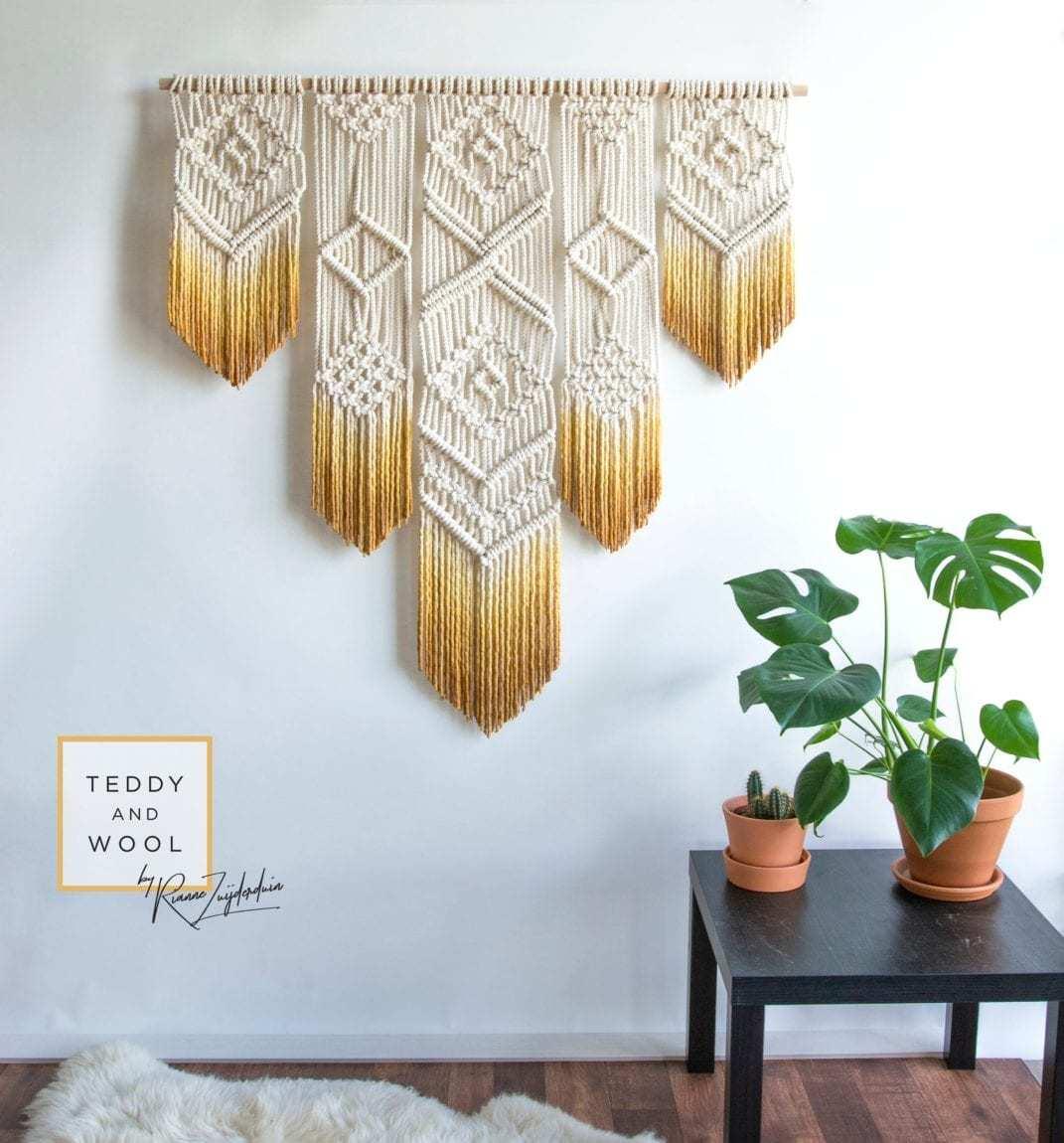 Macrame编织入门 - 基础结绳方法:平结与斜卷结