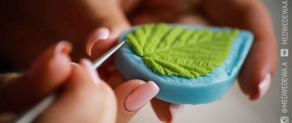 清新的软陶叶子制作过程