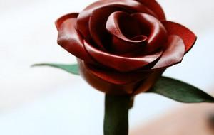 DIY皮革花朵(玫瑰花)制作教程(视频)